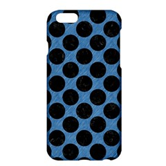 CIRCLES2 BLACK MARBLE & BLUE COLORED PENCIL (R) Apple iPhone 6 Plus/6S Plus Hardshell Case