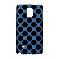 CIRCLES2 BLACK MARBLE & BLUE COLORED PENCIL (R) Samsung Galaxy Note 4 Hardshell Case