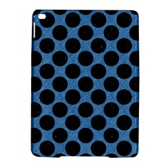 CIRCLES2 BLACK MARBLE & BLUE COLORED PENCIL (R) Apple iPad Air 2 Hardshell Case