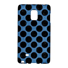 CIRCLES2 BLACK MARBLE & BLUE COLORED PENCIL (R) Samsung Galaxy Note Edge Hardshell Case