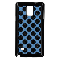 CIRCLES2 BLACK MARBLE & BLUE COLORED PENCIL (R) Samsung Galaxy Note 4 Case (Black)