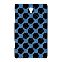 CIRCLES2 BLACK MARBLE & BLUE COLORED PENCIL (R) Samsung Galaxy Tab S (8.4 ) Hardshell Case