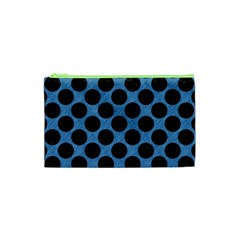 CIRCLES2 BLACK MARBLE & BLUE COLORED PENCIL (R) Cosmetic Bag (XS)