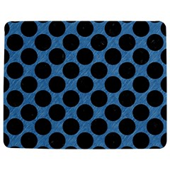 CIRCLES2 BLACK MARBLE & BLUE COLORED PENCIL (R) Jigsaw Puzzle Photo Stand (Rectangular)