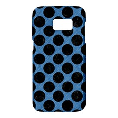 CIRCLES2 BLACK MARBLE & BLUE COLORED PENCIL (R) Samsung Galaxy S7 Hardshell Case