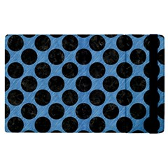 CIRCLES2 BLACK MARBLE & BLUE COLORED PENCIL (R) Apple iPad Pro 9.7   Flip Case