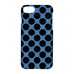 CIRCLES2 BLACK MARBLE & BLUE COLORED PENCIL (R) Apple iPhone 7 Hardshell Case