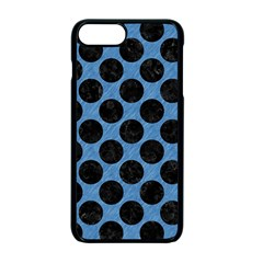 CIRCLES2 BLACK MARBLE & BLUE COLORED PENCIL (R) Apple iPhone 7 Plus Seamless Case (Black)