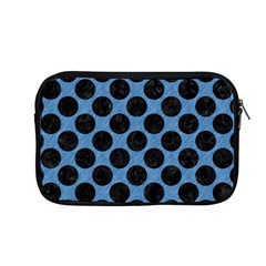 CIRCLES2 BLACK MARBLE & BLUE COLORED PENCIL (R) Apple MacBook Pro 13  Zipper Case