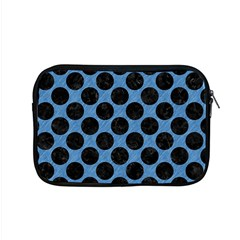 CIRCLES2 BLACK MARBLE & BLUE COLORED PENCIL (R) Apple MacBook Pro 15  Zipper Case