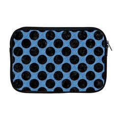CIRCLES2 BLACK MARBLE & BLUE COLORED PENCIL (R) Apple MacBook Pro 17  Zipper Case