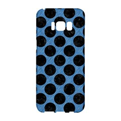 CIRCLES2 BLACK MARBLE & BLUE COLORED PENCIL (R) Samsung Galaxy S8 Hardshell Case