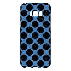 CIRCLES2 BLACK MARBLE & BLUE COLORED PENCIL (R) Samsung Galaxy S8 Plus Hardshell Case