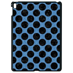 CIRCLES2 BLACK MARBLE & BLUE COLORED PENCIL (R) Apple iPad Pro 9.7   Black Seamless Case