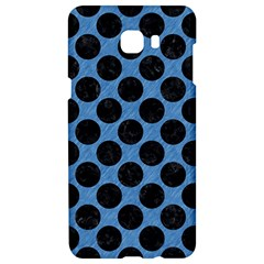 CIRCLES2 BLACK MARBLE & BLUE COLORED PENCIL (R) Samsung C9 Pro Hardshell Case