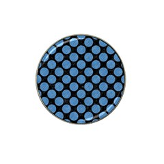 Circles2 Black Marble & Blue Colored Pencil Hat Clip Ball Marker (4 Pack) by trendistuff