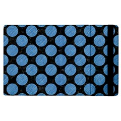 Circles2 Black Marble & Blue Colored Pencil Apple Ipad 3/4 Flip Case by trendistuff