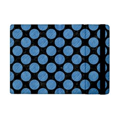 Circles2 Black Marble & Blue Colored Pencil Apple Ipad Mini Flip Case by trendistuff