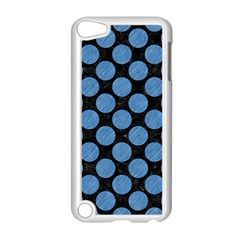 Circles2 Black Marble & Blue Colored Pencil Apple Ipod Touch 5 Case (white) by trendistuff