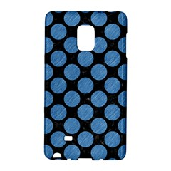Circles2 Black Marble & Blue Colored Pencil Samsung Galaxy Note Edge Hardshell Case by trendistuff