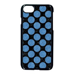 Circles2 Black Marble & Blue Colored Pencil Apple Iphone 7 Seamless Case (black) by trendistuff