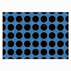 Circles1 Black Marble & Blue Colored Pencil (r) Large Glasses Cloth by trendistuff