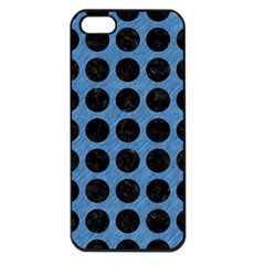 Circles1 Black Marble & Blue Colored Pencil (r) Apple Iphone 5 Seamless Case (black) by trendistuff