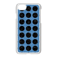 Circles1 Black Marble & Blue Colored Pencil (r) Apple Iphone 7 Seamless Case (white) by trendistuff