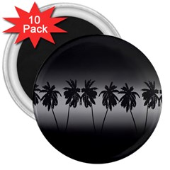 Tropical Sunset 3  Magnets (10 Pack)
