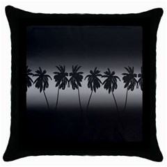 Tropical Sunset Throw Pillow Case (black)