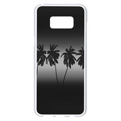 Tropical Sunset Samsung Galaxy S8 Plus White Seamless Case by Valentinaart