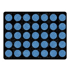 Circles1 Black Marble & Blue Colored Pencil Fleece Blanket (small) by trendistuff
