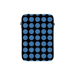 Circles1 Black Marble & Blue Colored Pencil Apple Ipad Mini Protective Soft Case by trendistuff