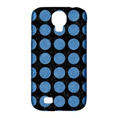 Circles1 Black Marble & Blue Colored Pencil Samsung Galaxy S4 Classic Hardshell Case (pc+silicone)