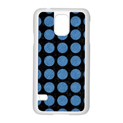 Circles1 Black Marble & Blue Colored Pencil Samsung Galaxy S5 Case (white) by trendistuff