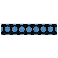 Circles1 Black Marble & Blue Colored Pencil Flano Scarf (small) by trendistuff