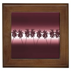 Tropical Sunset Framed Tiles by Valentinaart