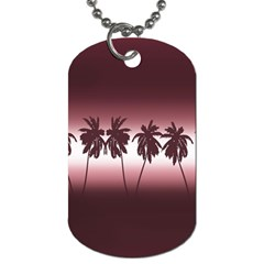 Tropical Sunset Dog Tag (one Side) by Valentinaart