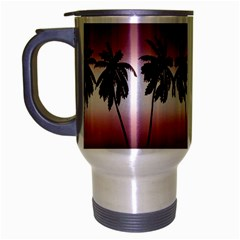 Tropical Sunset Travel Mug (silver Gray) by Valentinaart