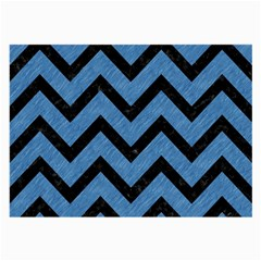 Chevron9 Black Marble & Blue Colored Pencil (r) Large Glasses Cloth (2 Sides) by trendistuff