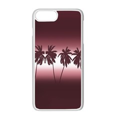Tropical Sunset Apple Iphone 7 Plus White Seamless Case by Valentinaart