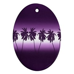 Tropical Sunset Ornament (oval)