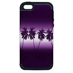 Tropical Sunset Apple Iphone 5 Hardshell Case (pc+silicone) by Valentinaart