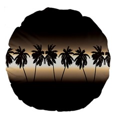 Tropical Sunset Large 18  Premium Round Cushions by Valentinaart