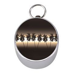 Tropical Sunset Mini Silver Compasses