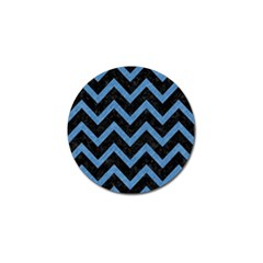 Chevron9 Black Marble & Blue Colored Pencil Golf Ball Marker (10 Pack) by trendistuff