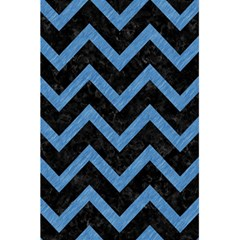 Chevron9 Black Marble & Blue Colored Pencil 5 5  X 8 5  Notebook by trendistuff