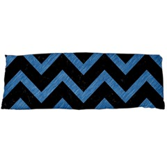 Chevron9 Black Marble & Blue Colored Pencil Body Pillow Case Dakimakura (two Sides) by trendistuff