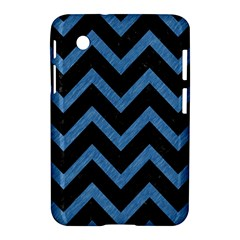 Chevron9 Black Marble & Blue Colored Pencil Samsung Galaxy Tab 2 (7 ) P3100 Hardshell Case  by trendistuff