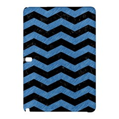 Chevron3 Black Marble & Blue Colored Pencil Samsung Galaxy Tab Pro 12 2 Hardshell Case by trendistuff